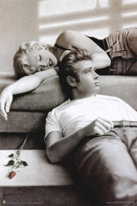 Marilyn Monroe and James Dean Flute Song by Paul Gassenheimer Poster Image