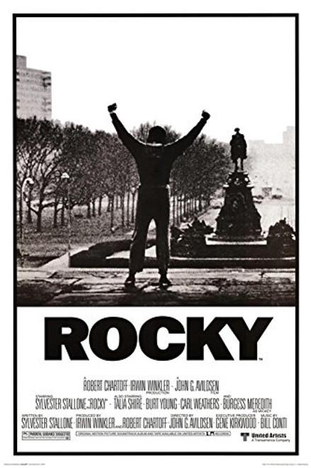 Rocky Black & White Movie Poster Image