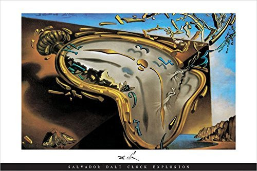Clock Explosion by Salvador Dali Art Print Poster Image