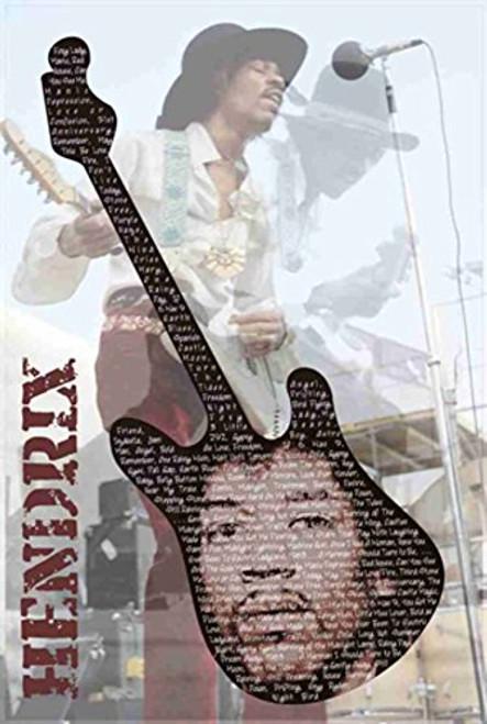 Jimi Hendrix Guitar Poster