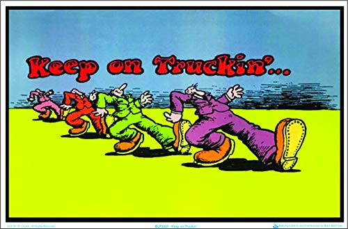 Keep on Truckin by R Crumb Blacklight Poster Image