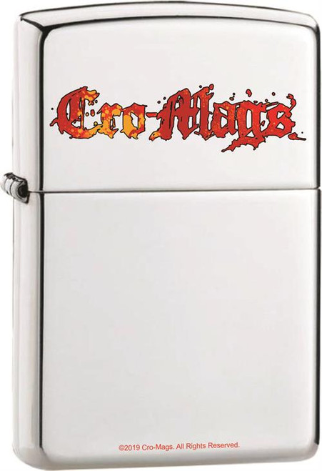 Cro-Mags Logo Zippo Lighter in High Polish Chrome Image