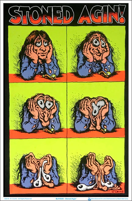 Stoned Agin' by R Crumb Blacklight Poster Image