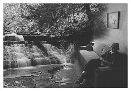 Peace-Stream with Old Man by Richard Gallup 36x24 Surreal Photo-Composite Poster