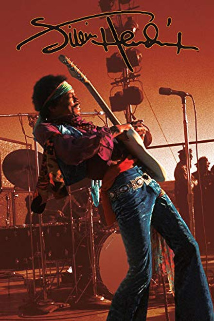 Jimi Hendrix Live on Stage Poster 24 X 36 Inches