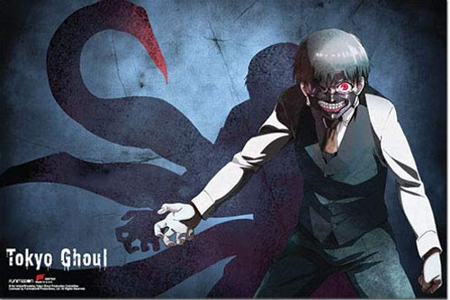 Tokyo Ghoul Kaneki Centipede Dark Fantasy Horizontal Poster 36 in x 24 in