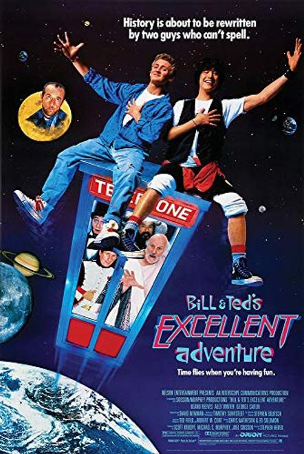 Bill Teds Excellent Adventure Key Art Art Print Poster 24x36