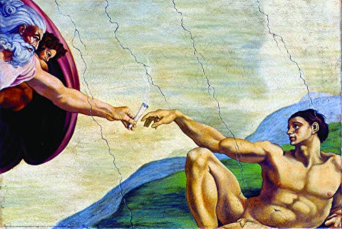 """Poster Hand of God - Joint 24""""x36"""" Wall Art"""