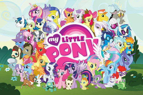 My Little Pony Cast Poster, 36 by 24 Inch