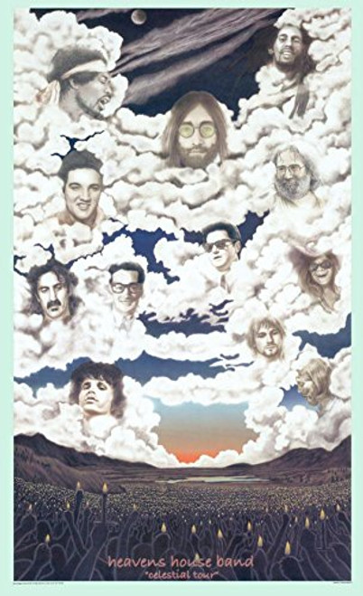 Heaven's House Band Celestial Tour Poster Print 24x36
