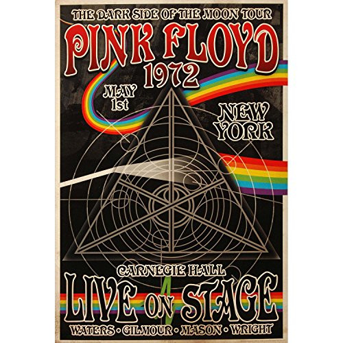 Pink Floyd 1972 Carnegie Hall Poster 24 x 36in