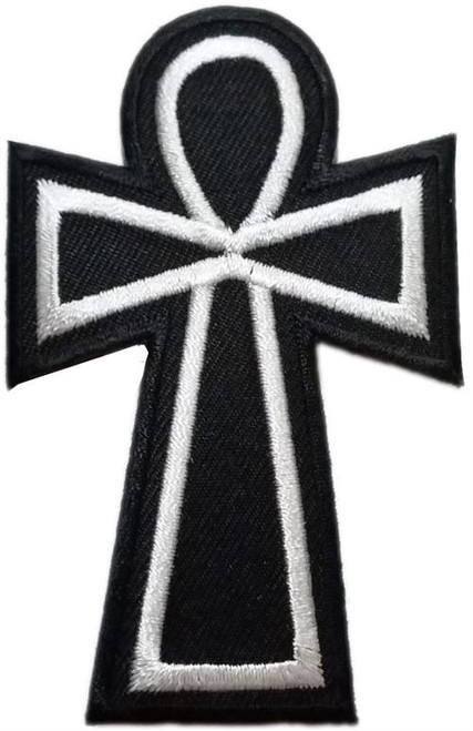 "Ankh  Embroidered Sew On Patch - 2"" X 3"" Image"