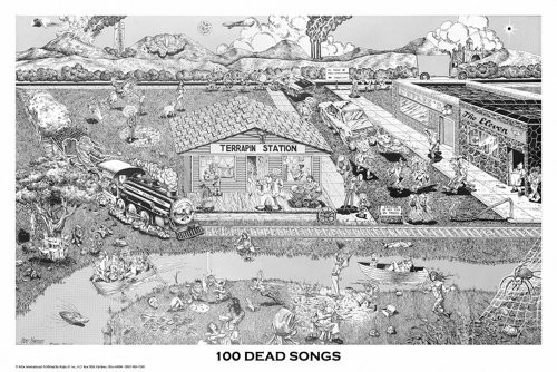 100 Dead Songs Poster 36x24
