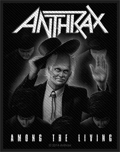 """Anthrax Among The Living - Woven Sew On Patch 3"""" x 4"""" Image"""
