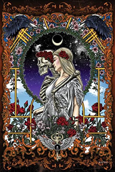 Skeleton Bride Art Print Poster 24x36 inch