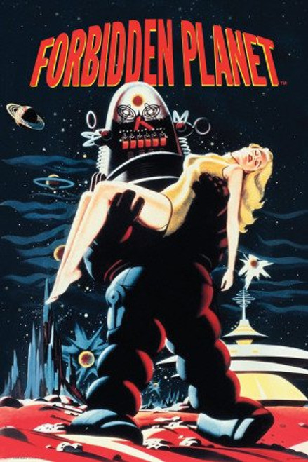 Forbidden Planet Movie Robby The Robot Anne Francis Poster Print Poster Print, 24x36