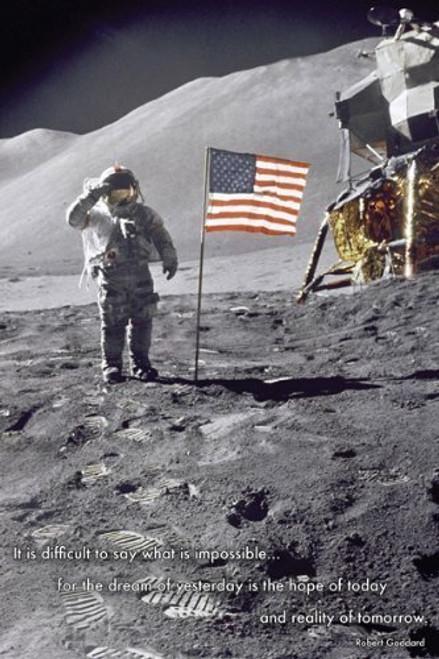 American Moon Landing 36x24 Photograph Art Print Poster