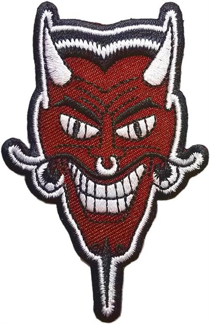 "Devil - Embroidered Sew On Patch 2"" X 3"" Image"