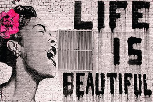 Banksy - Life is Beautiful Poster (24x36)