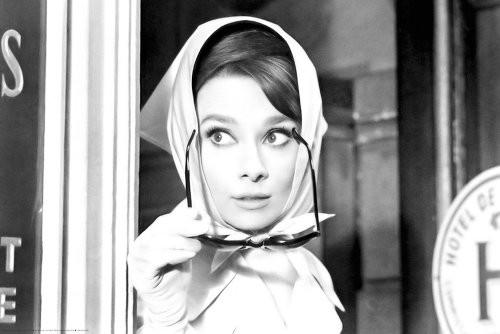 Audrey Hepburn Scarf Poster 36x24
