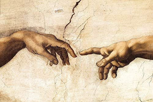 """The Creation of Man - Hands by Michelangelo Buonarotti 24""""x36"""" Art Print Poster"""