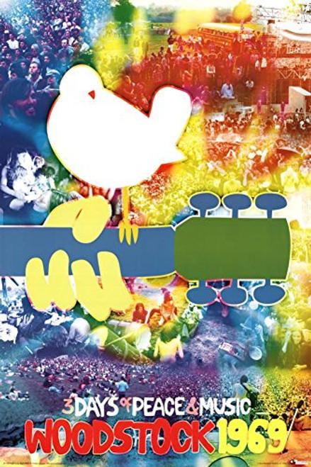 Woodstock Tye Dye Poster 24 x 36in
