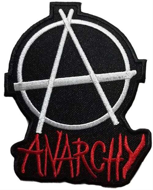 "Anarchy Embroidered Sew On Patch - 3"" X 4"" Image"