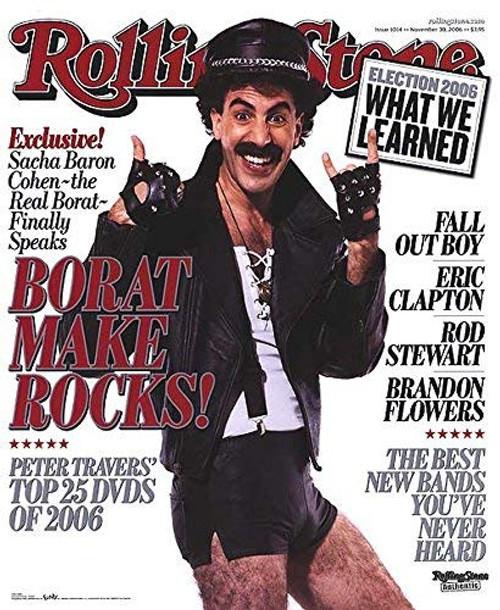 "Poster Borat Rolling Stone Magazine 22"" X 27"""