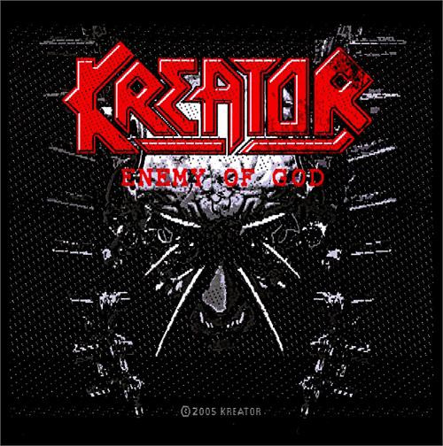"""Kreator Enemy Of God - Woven Sew On Patch 4"""" x 3.75"""" Image"""