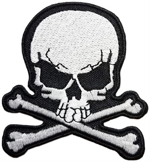 "White Skull - Embroidered Sew On Patch 2.72"" X 3"" Image"