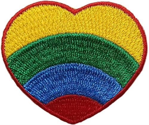 """Heart Embroidered Sew On Patch - 2"""" X 2"""" Image"""