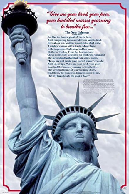 Lady Liberty Educational History Teacher Classroom Chart Print Poster 24x36
