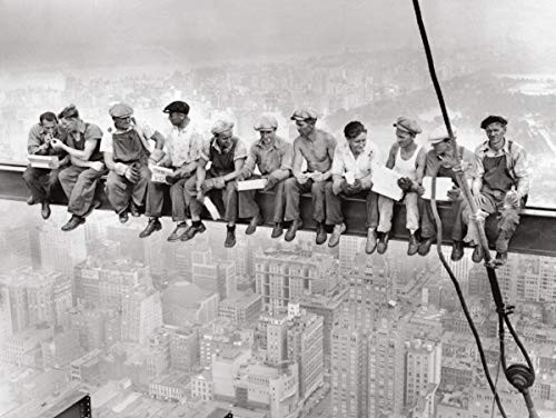 Lunch atop a Skyscraper - Men on Beam Poster (24x18)