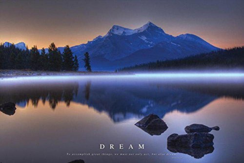 Dream - Mountains Landscape Poster 36 x 24in