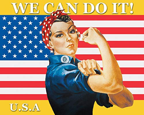 Rosie The Riveter - We Can Do It Art Poster Print (20x16)