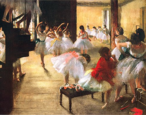 Ballet Rehearsal by Edgard Degas - Art Print/Poster 11x14 inches