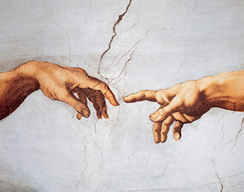 The Creation of Adam (Detail) by Michelangelo - Art Print / Poster 11x14 inches