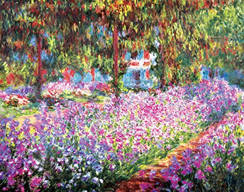 Garden at Giverny by Claude Monet - Art Print/Poster 11x14 inches