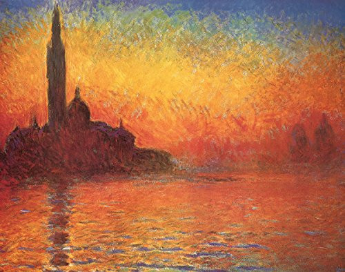 Dusk by Claude Monet - Art Print / Poster 11x14 inches