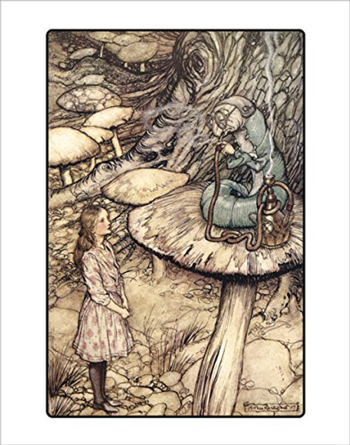 Advice from a Caterpillar by Arthur Rackham - Art Print/Poster 11x14 inches