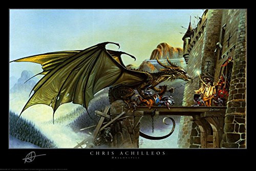 Dragon Spell Poster by Chris Achilleos 36 x 24in