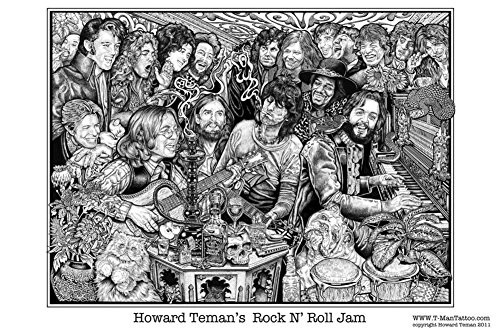 Rock N' Roll Jam Poster by Howard Teman 36 x 24in