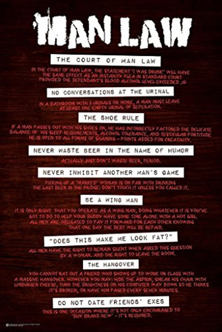 Man Law Poster 24 x 36in