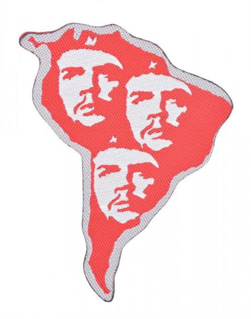 """Che Guevara  South America - Woven Sew On Patch 3.3"""" x 4.3"""" Image"""