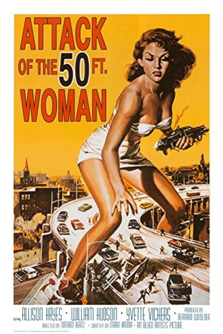 Attack of The 50 ft Woman Poster Print 24x36