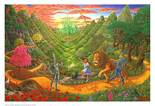 Wizard Of Oz Poster by Tom Masse 32 x 22in