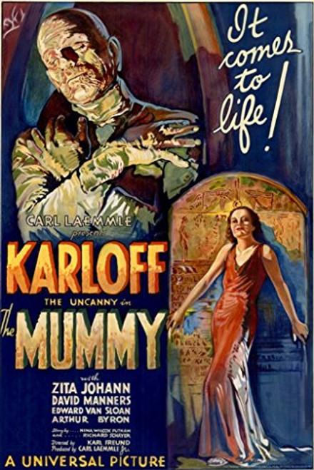 Boris Karloff The Mummy Movie Poster 1932 Campy Classic Horror 24X36 Scary