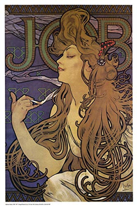 Job Poster by Alphonse Mucha 24 x 36in