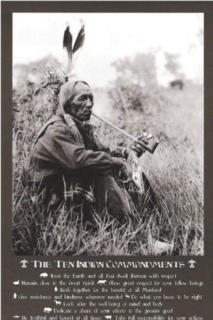 Ten Indian Commandments I Poster 24x36