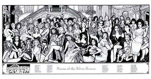 Sirens of the Silver Screen Poster by Howard Teman 36 x 19in